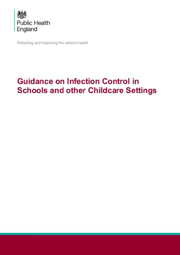 Guidance on Infection Control in Schools and other Childcare Settings